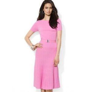 Ralph Lauren Fitted Cap-sleeve A-Line Dress